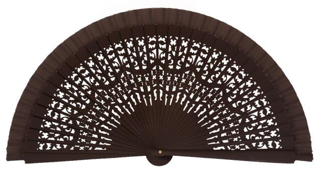 Wooden fan in colors 4409MRR