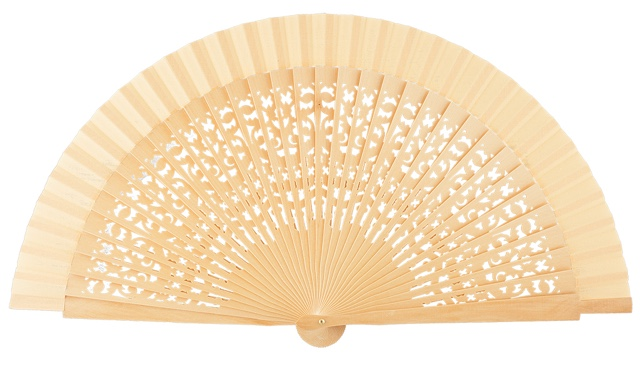 Wooden fan in colors 4409NAT
