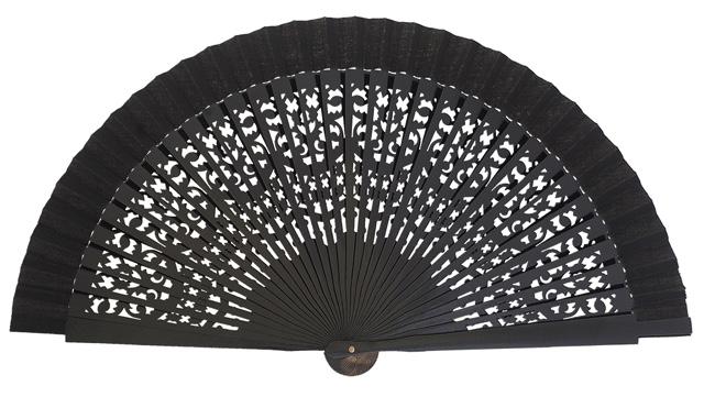 Wooden fan in colors 4409NEG