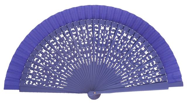 Wooden fan in colors 4409VIO