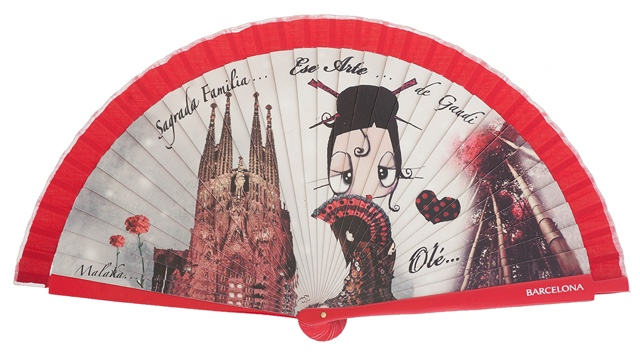 Wooden fan malaka collections 4416IMP