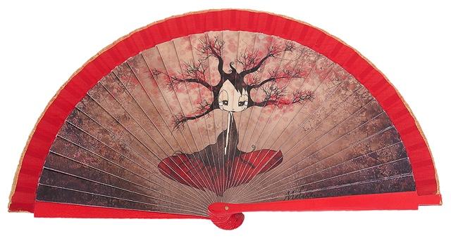 Wooden fan malaka collections 4442ROJ