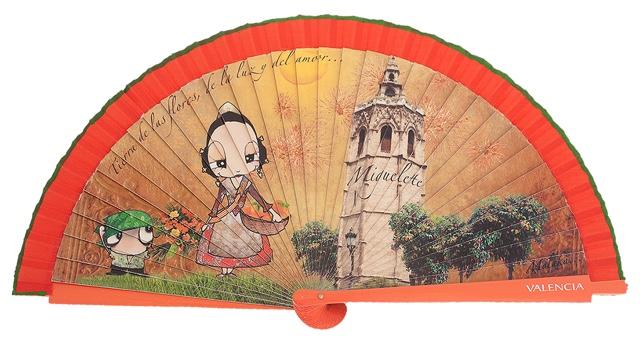 Wooden fan souvenir collections 4447IMP