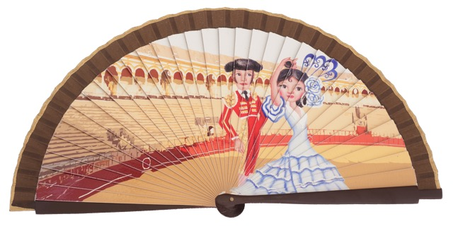 Wooden fan folklore collections 4517IMP