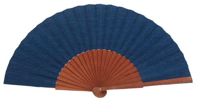 Denim pear wood fan 4552TUR