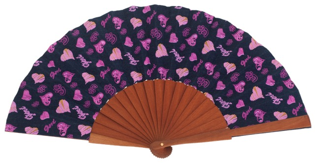 Denim pear wood fan 4555SUR