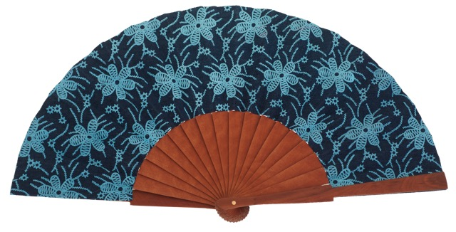 Fantasy pear wooden fan 4556SUR