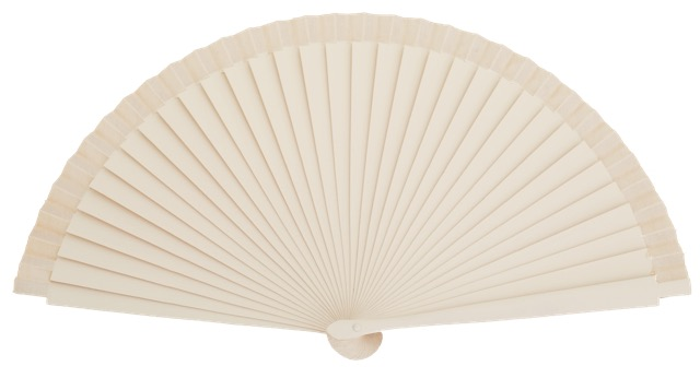 Birch wood fan 21 cm laser engraving 4568/1MFL