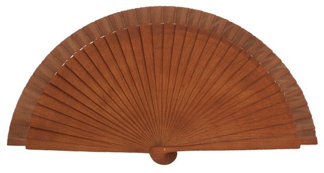 Birch wood fan 21 cm laser engraving 4568/1NOG