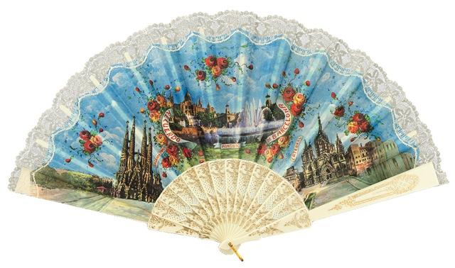 """""""Semi-pericon"""" plastic fan for souvenir 568/1MFL"""