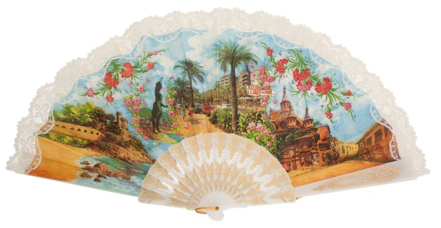 """""""Semi-pericon"""" plastic fan for souvenir 770/4BLA"""