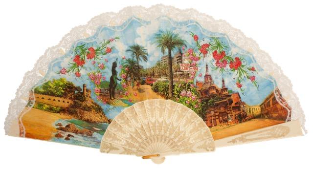 """""""Semi-pericon"""" plastic fan for souvenir 770/4MFL"""
