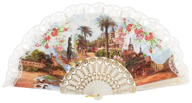 Plastic fan souvenir collections 770BLA