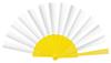 abanico plástico amarillo