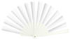 abanico plástico blanco