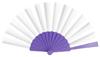abanico plástico violeta